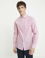 Chemise slim 100% coton - NAROSIER_ROSE - Vue de face - Celio France