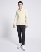 Pull col montant 100% coton - NESNAP_OFFWHITE - Silhouette - Celio France
