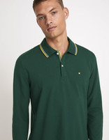 Polo piqué coton stretch - vert - MECONTRAS_PINEGREEN01 - Vue de face - Celio France
