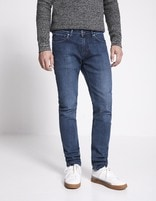 Jean slim C25  powerstretch- double stone - AMORE_DOUBLESTONE - Vue de face - Celio France