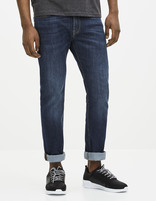 Jean slim C25  stretch - FOSLONE25_STONE - Vue de face - Celio France