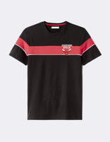 T-shirt NBA Chicago Bulls - LMETEENBA_BLACKBULLS - Image à plat - Celio France