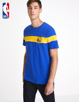 T-shirt NBA Golden State Warriors - LMETEENBA_BLUEWARRIORS - Vue de face - Celio France