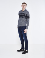 Jean straight C15  stretch 3 longueurs - GOCODY15_DARKINDIGO - Silhouette - Celio France