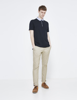 polo manches courtes col chemise - LEMIMO_NAVYBLUE02 - Silhouette - Celio France