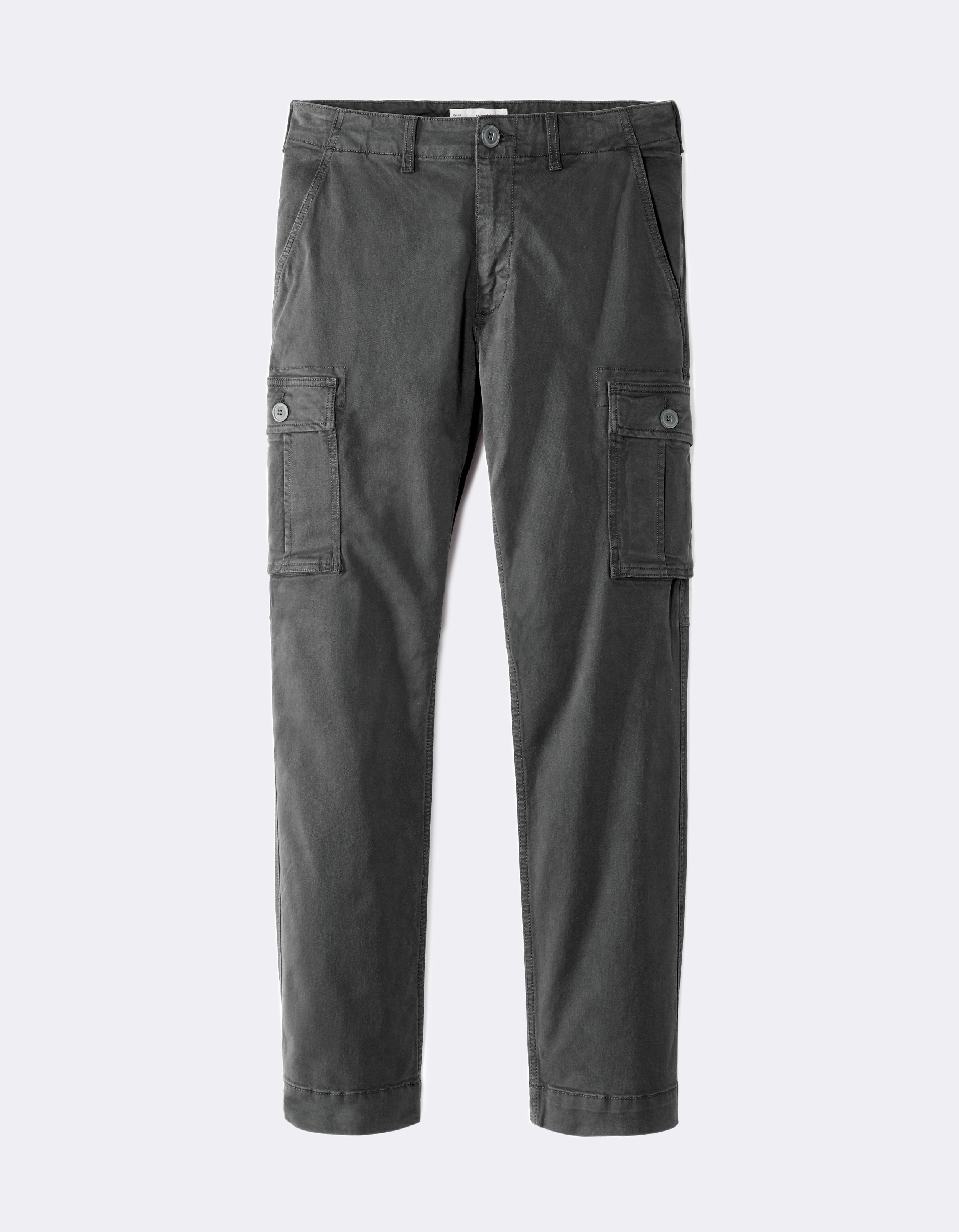Pantalon Cargo straight 4 poches - LOBSCUR ANTHRACITE - Image à plat - Celio  France 6ebb032b7bf