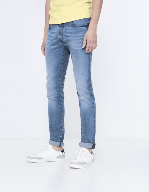 Jean slim C25  stretch - double stone - JOSLINE25_DOUBLESTONE - Vue de face - Celio France