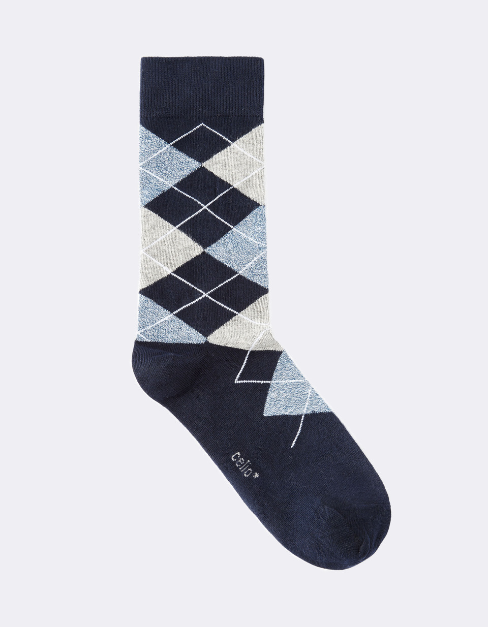 chaussettes fantaisies losanges - MILINGTON_NAVY - Image à plat - Celio France