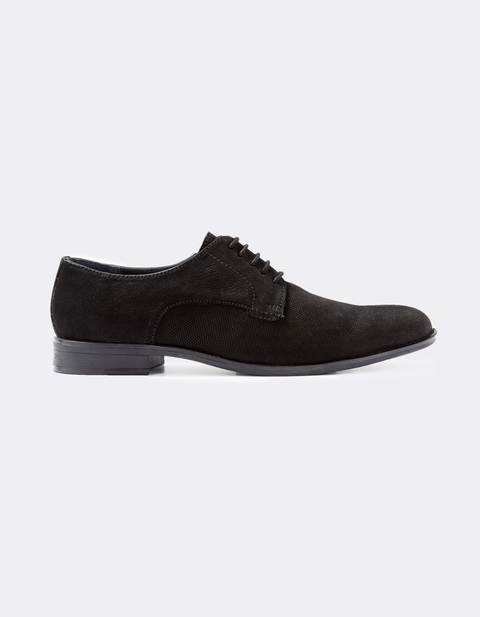 chaussure derby 100% cuir - MYVELVET_BLACK - Vue de face - Celio France