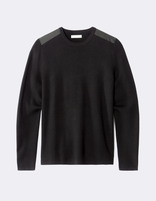 Pull straight col rond patches - MEDIA_BLACK - Image à plat - Celio France
