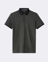 Polo motif pois - anthracite - MEPETIPOIS_ANTHRACITE - Image à plat - Celio France