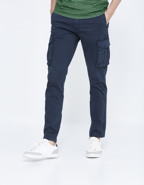 cargo straight délavé stretch - LOGLOU_NAVY - Vue de face - Celio France