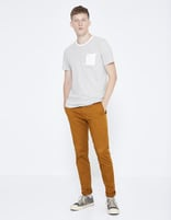 Chino skinny extensible - MOTALIA4_COGNAC - Silhouette - Celio France
