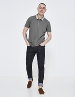polo manches courtes col chemise - LEMIMO_GRISCHINE - Silhouette - Celio France