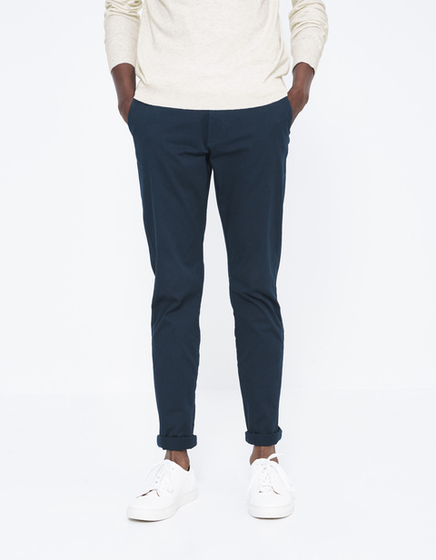 chino skinny extensible - MOTALIA4_PRUSSIANBLUE - Vue de face - Celio France