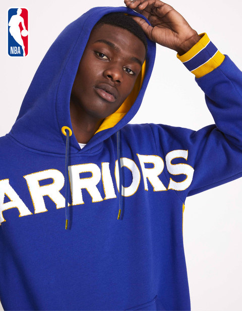 Sweat à capuche NBA Golden State Warriors - LMESNBA_BLUEWARRIORS - Vue de face - Celio France