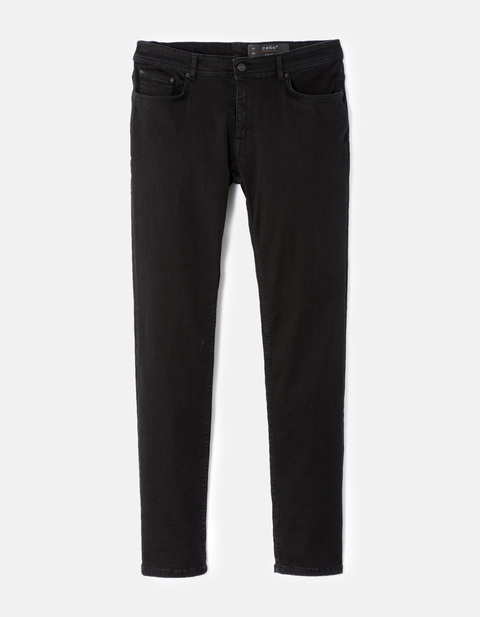 Jean slim C25 Powerflex  - AFOWOIR_NOIR - Vue de face - Celio France