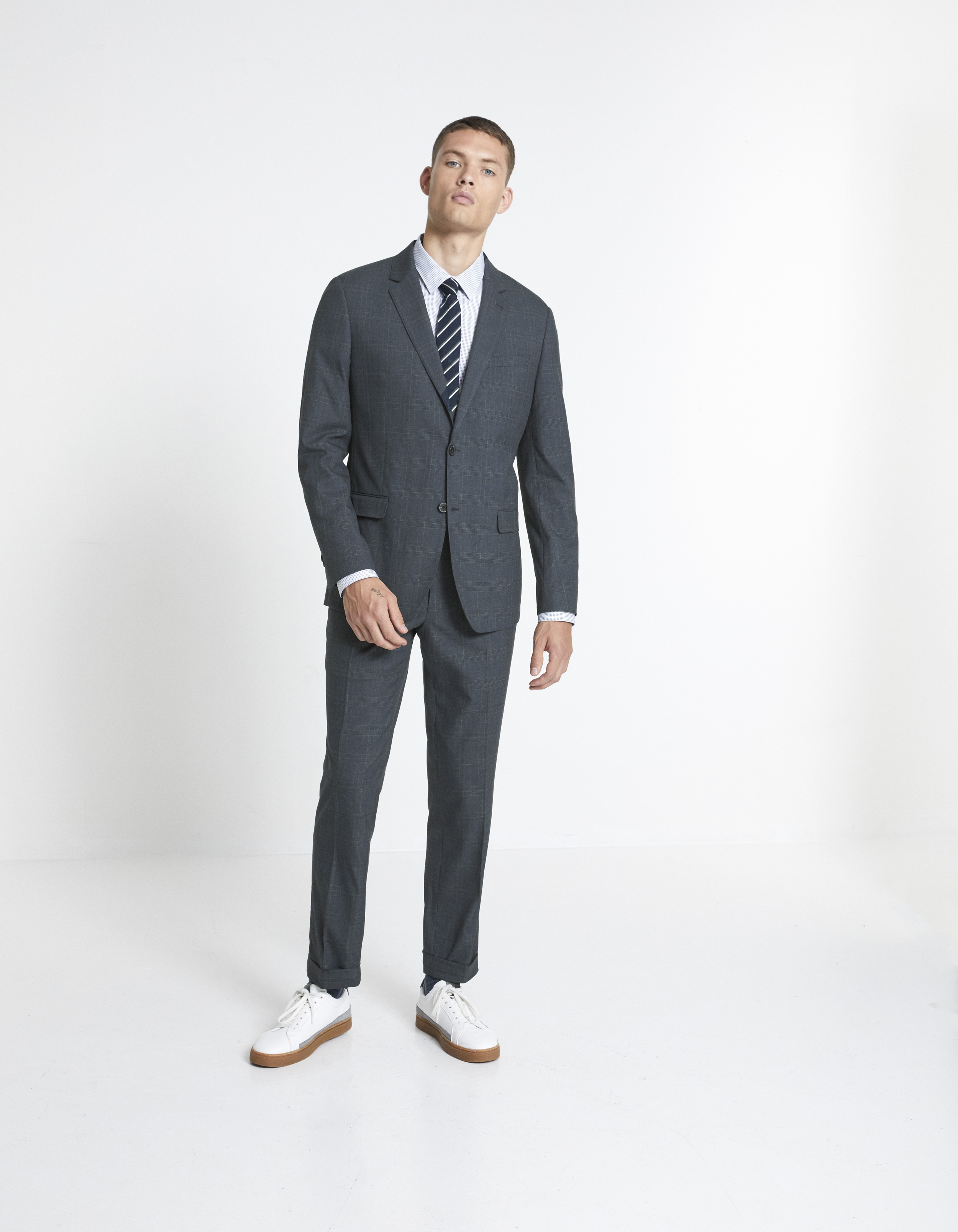 Costume Willy slim - gris - LOOK_COSTUME_MUWILLYANTHRACITE - Image à plat - Celio France