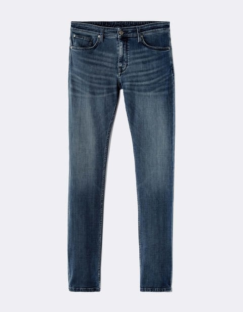 Jean straight C15  stretch - bleu - MOSOFTY_BLEU - Vue de face - Celio France