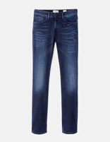 Jean straight C15  stretch 3 longueurs - GOCODY15_DARKINDIGO - Vue de face - Celio France
