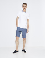 polo manches courtes col chemise - LEMIMO_OPTICALWHITE - Silhouette - Celio France