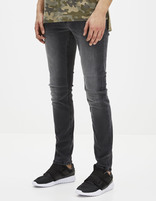 Jean slim C25 Powerflex  - AFOWIS_GRIS - Vue de face - Celio France