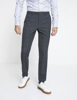 Pantalon WILLY slim - MOWILLY_ANTHRACITE - Vue de face - Celio France
