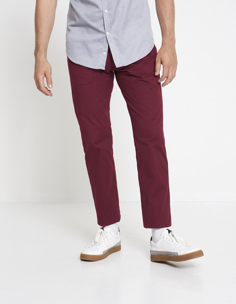 Chino straight coton stretch - MOTA_PINOT - Vue de face - Celio France