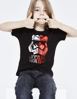 t-shirt enfant Star Wars™ coton - LJEFRAGKI_BLACK - Vue de face - Celio France