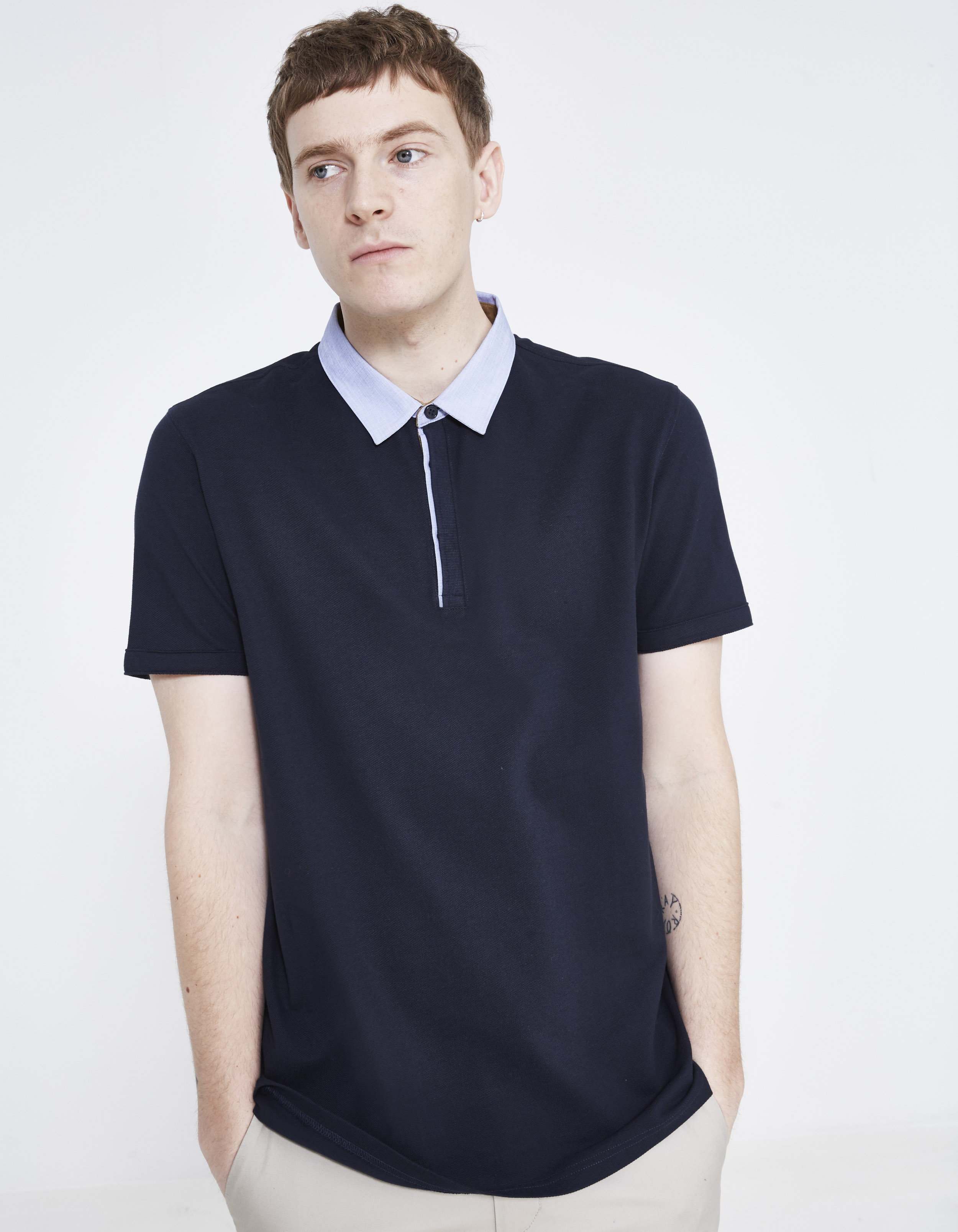 polo manches courtes col chemise