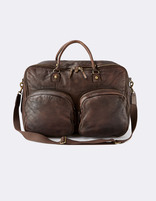 Sac week end en cuir marron - MILEATHER_BROWN - Image à plat - Celio France