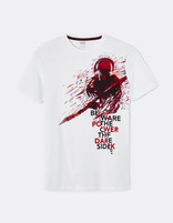 t-shirt straight coton Star Wars - LJEGUARDE_OPTICALWHITE - Image à plat - Celio France